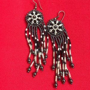 Vintage Boho Beaded Earrings